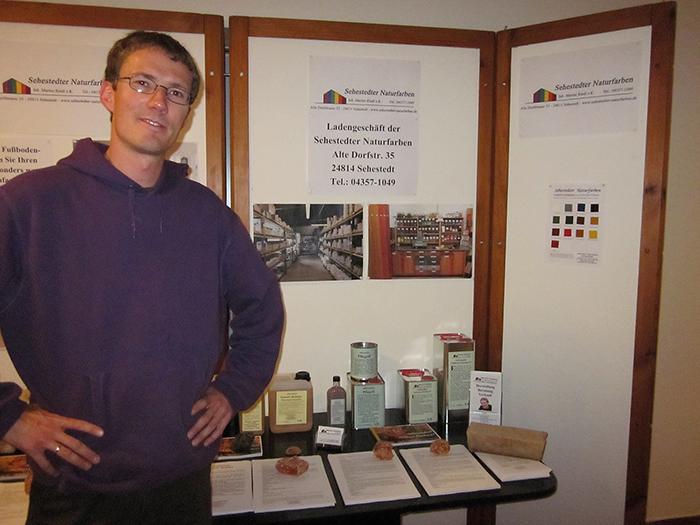 Marten Riedl stellt seine Produktpalette vor