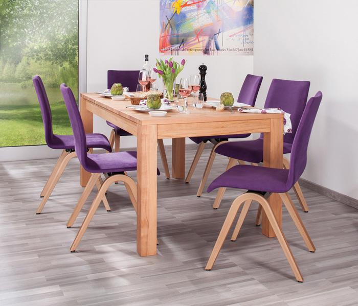MOIZI M 40 Sitzgruppe mit Massivholztisch