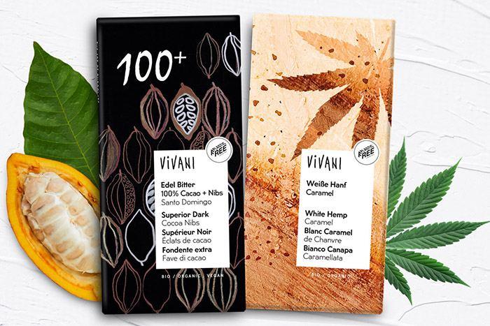 vivani schokolade weiss hanf 100% schwarz