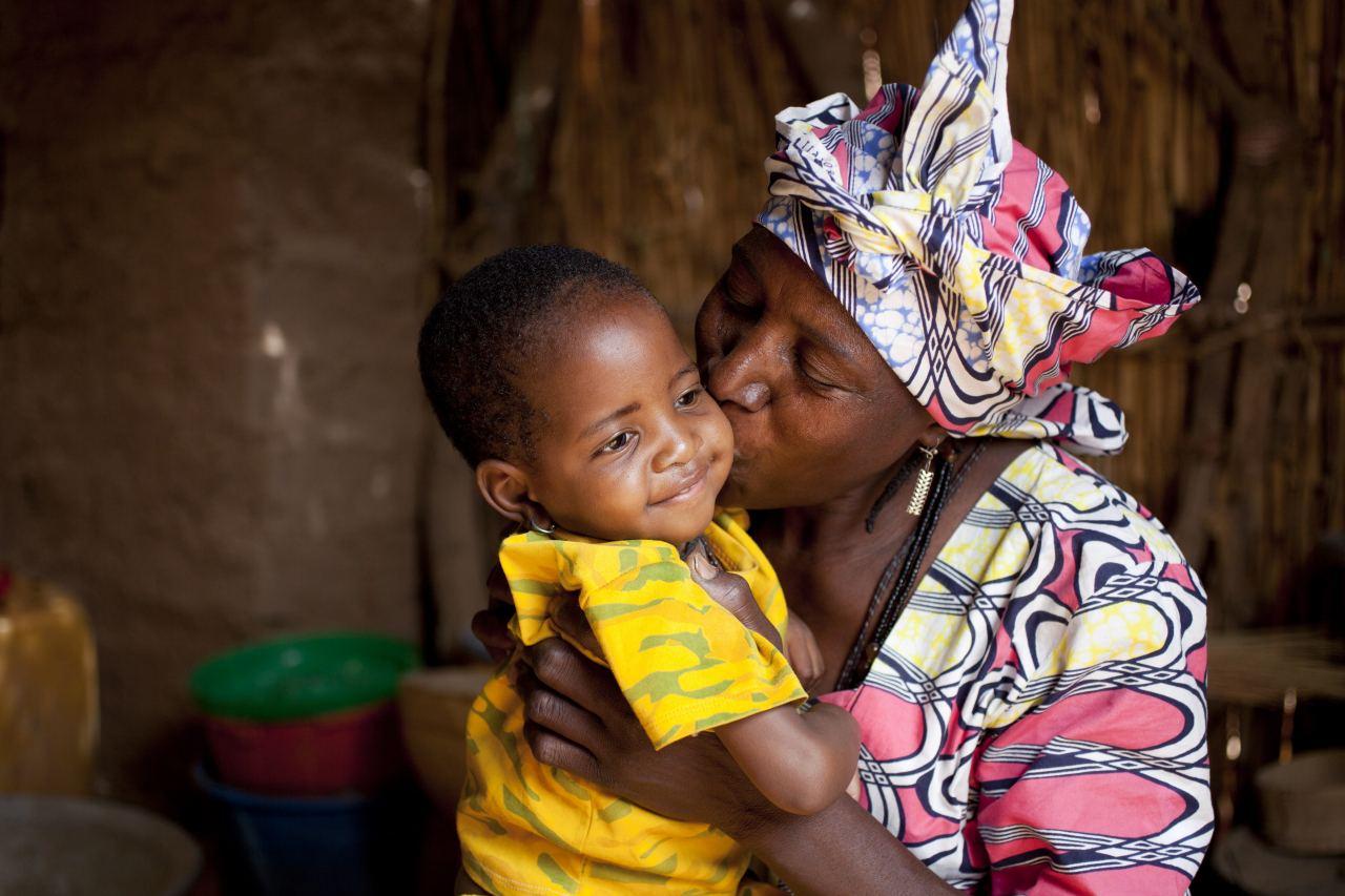 Binta Boukaryaus Niger und zweijährige Tochter Fati