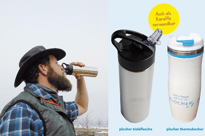 Trinkflasche und Thermosflasche von Plocher