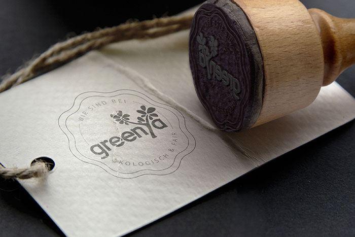 greenya logo stempel